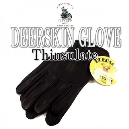 NAPA GLOVE/ナパグローグ DEERSKIN DRIVER EXTRA WARM THINSULATE/グローブ・BLACK