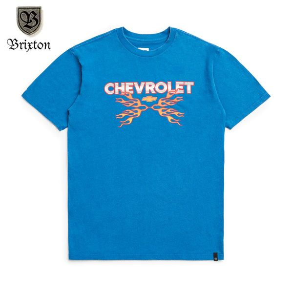 BRIXTON×CHEVROLET/ブリクストン DIRTY TWO CLUB SS STANDARD TEE/Tシャツ・ROADSTER ROYAL