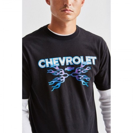 BRIXTON×CHEVROLET/ブリクストン DIRTY TWO CLUB SS STANDARD TEE/Tシャツ・BEL AIR BLACK